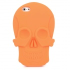 KK-02 Cool Skull Head Style Protective Soft Silicone Back Case for Iphone 5 - Orange