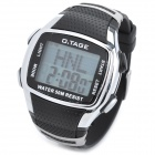 O.Tage TG8002-D51 Rubber Band Digital Quartz Wrist Watch w/ Backlight - Black