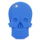 KK-05 Cool Skull Head Style Protective Soft Silicone Back Case for Iphone 5 - Blue
