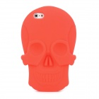 KK-06 Cool Skull Head Style Protective Soft Silicone Back Case for Iphone 5 - Red