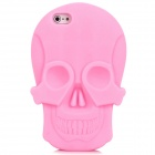KK-01 Cool Skull Head Style Protective Soft Silicone Back Case for Iphone 5 - Pink