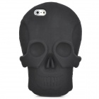 KK-04 Cool Skull Head Style Protective Soft Silicone Back Case for Iphone 5 - Black