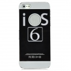 "Protective ""IOS 6"" Pattern Back Case w/ LED Colorful Flashing Light for Iphone 5 - Black"