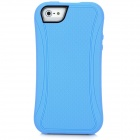 SiLiTo Protective TPU + Plastic Back Case for Iphone 5 - Blue + Black