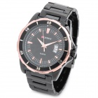 CURREN 8108 Fashion Man Tungsten Steel Quartz Analog Waterproof Wrist Watch - Black + Gold