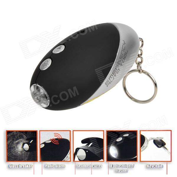 LED Illumination / Buzzer Alarm / Window Broken Hammer / Safety Belt Cutter Emergency Tool Kit