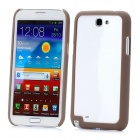 Protective ABS Bumper Frame for Samsung Galaxy Note 2 N7100 - Brown