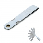 9S 9 Blades Stainless Steel Feeler Gauge Set- Silver (0.04mm~0.30mm)
