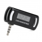 """F-118 0.8"""" LCD Car Hands-Free Music Transmitter Set for iPod / iPhone - Black"""