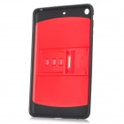 "Protective TPU + PC Back Case w/ Stand for 7"" Ipad MINI - Red + Black"