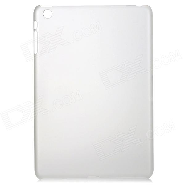 Ultra-thin Frosted Protective Plastic Back Case for Ipad MINI - Transparent White