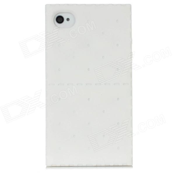 Funda protectora de silicona Soda Cracker estilo para Iphone 4 / 4S - Blanco