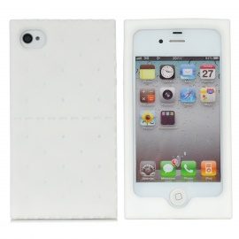 Soda Cracker Style Protective Silicone Case for Iphone 4 / 4S - White