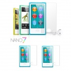 PET Glossy Screen Protector w/ Cleaning Cloth for Ipod Nano 7 - Transparent (3 PCS)