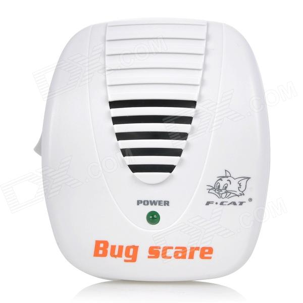FCAT KD-28A Ultrasonic Electronic Mouse & Rat Repeller w/ EU Plug - White (AC 90~110V)