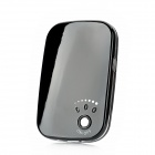 2600mAh Portable External Battery / Hand Warmer w/ LED Flashlight for iPhone / Samsung / HTC - Black