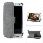 Protective PU Leather Case for Samsung Galaxy Note 2 N7100 - Grey