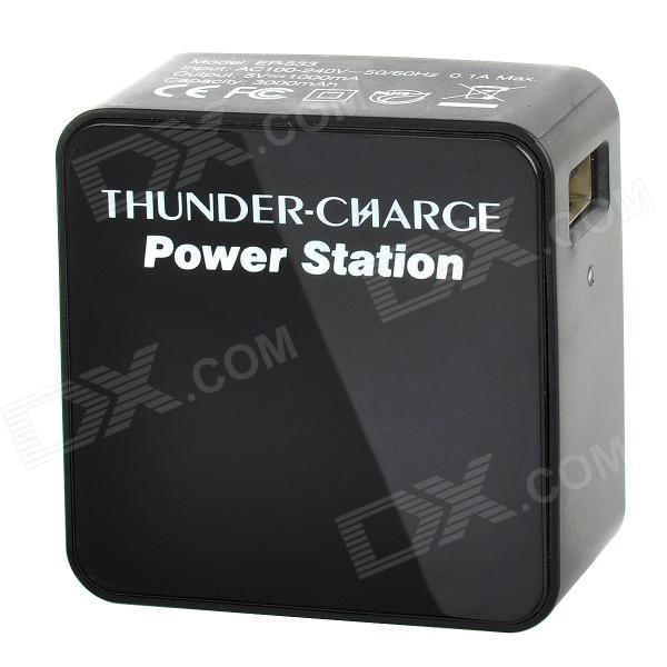 EP-533 3000mAh Carregador de Bateria Mobile Power para iPhone 4 / 4S / 5 / iPod / iPad - preto