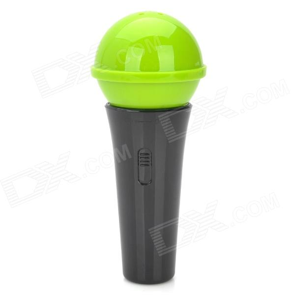 Cute Microphone Shape ABS Toothpick Holder - Green + Black wine cask shape automatic plastic toothpick holder black