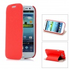Stylish Protective PU Leather Case for Samsung Galaxy S3 i9300 - Red