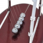 H51S Newton's Cradle Balance Balls Desktop Toy - Red Brown + Silver
