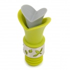 Creative Lily Shape Silicone Wine Pourer Stopper - Green