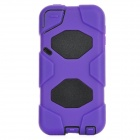 Robot Style Detachable Protective Plastic + PC Case for Ipod Touch 5 - Purple + Black