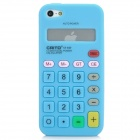 Protective Calculator Style Silicone Case for Iphone 5 - Blue