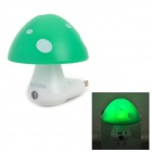 INHIDA YHD-MGDH Mushroom Shape 1/5W 3-LED Green Light Control Lamp (AC 220V / 2-Flat- Pin Plug)