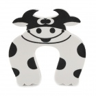 Cute Cow Pattern Baby Safety Door Stopper Finger Pinch Guard - White