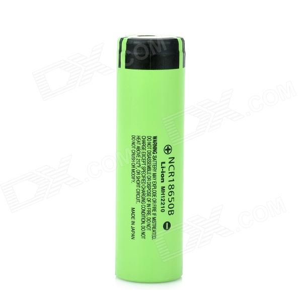 Panasonic NCR18650B Super Max 3.7V 3400mAh Rechargeable Li-ion Battery - Black + Green panasonic ncr18650b super max 3 7v 3400mah rechargeable li ion battery black green