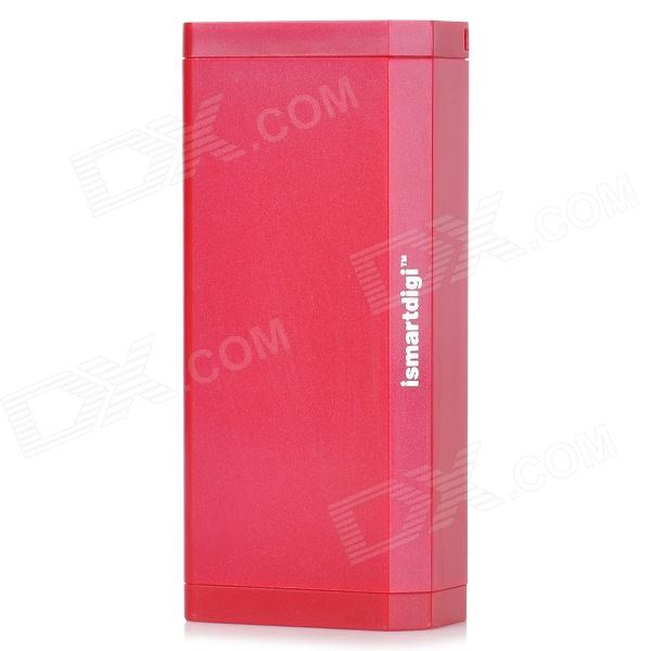 ISMARTDIGI IP5011R Rechargeable 6000mAh Mobile Emergency Battery Charger for Iphone + More - Red 3 6v 2400mah rechargeable battery pack for psp 3000 2000