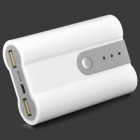 5V Battery Shell Case for Mobile Phone + Camera + More - White + Grey