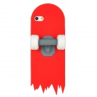 Stylish 3D Skateboard Protective Silicone Back Case for Iphone 5 - Red