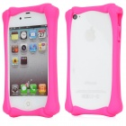 K002 Protective Silicon Frame for Iphone 4 / 4S - Deep Pink