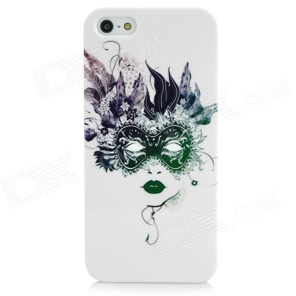 Beauty Pattern Protective Plastic Back Case for Iphone 5 - White