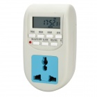 1.5&quot; LCD Electronic Timer Socket - White + Blue (AC 220~240V / EU Plug)