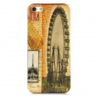 Ferris Wheel Pattern Protective ABS Plastic Case for Iphone 5 - Yellow + Black
