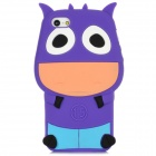 Mike Cow Style Protective Silicone Back Case for Iphone 5 - Purple