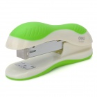 DELI 0327 Classic Ultra-Light Plastic + Iron Rotatable Stapler - Green + White