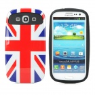 Flag of UK Pattern Silicone Back Case for Samsung i9300 - Red + White + Blue