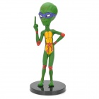 Cool Green Hornet Alien Figure Display Modell - Green + Red + Yellow + Purple (NC-17)