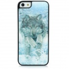 3D Anti-Slip Matte Wolf Pattern Protective Plastic Case for Iphone 5