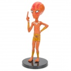 Coole Savage Alien Figure Display Model - Yellow + Red + Beige (NC-17)