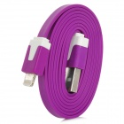 Flat USB Sync Data / Charging Cable for iPhone 5 - Purple