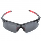CARSHIRO 9356 Outdoor Windproof Polarized Resin Lens Sunglasses Goggle - Black + Red