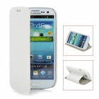 Protective Flip-open PU Leather Case for Samsung I9300 - White