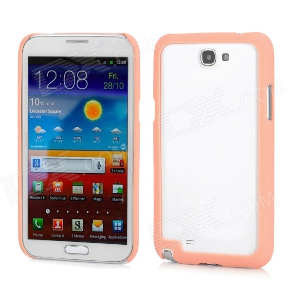 Protective ABS Bumper Frame for Samsung N7100 - Orange