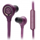 Mosidun MSD-510 Flat In-Ear Earphones w/ Microphone for iPhone / Samsung / Nokia + More - Purple