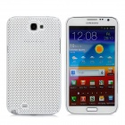 Mesh Protective Plastic Back Case for Samsung N7100 / N7102 - White